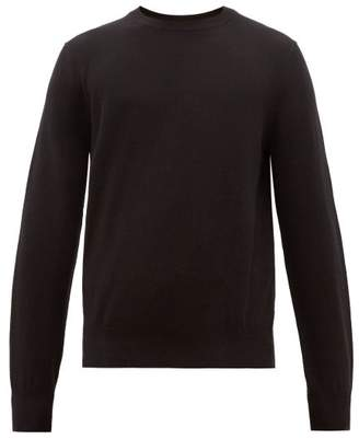 The Row Benji Crew Neck Cashmere Sweater - Mens - Black