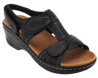 Clarks Leather Sandals w/Adjustability - Lexi Walnut