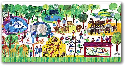 Eric Carle's 123 Zoo Wall Art