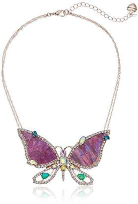 Betsey Johnson GBG)) Paradise Lost Women's Butterfly Pendant Necklace
