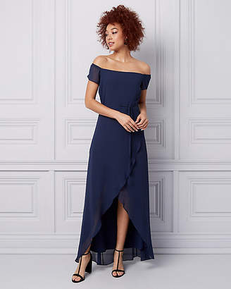 Le Château Chiffon Off-the-Shoulder Gown