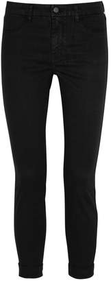 J Brand Anja Cropped Luxe Sateen Skinny Jeans