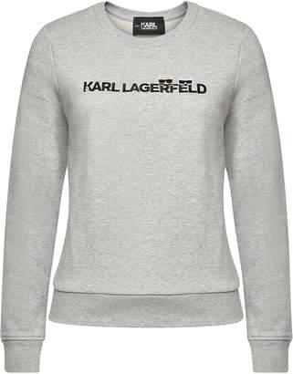 Karl Lagerfeld Paris Ikonik & Logo Cotton Sweatshirt