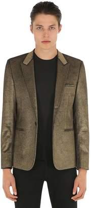 Saint Laurent Gold Sprayed Velvet Jacket