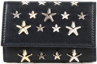 Jimmy Choo Leather W Multi Metal Stars Key Case
