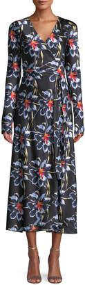 Diane von Furstenberg Tilly Long-Sleeve Floral Silk Wrap Dress