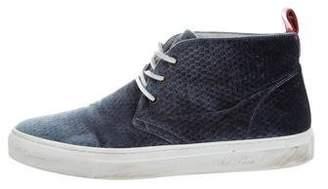 Del Toro Velvet High-Top Sneakers