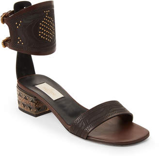 e7dafb01b Valentino Brown Leather Upper Women s Sandals - ShopStyle