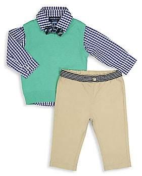 Andy & Evan Baby Boy's Four-Piece Sweater Vest, Shirt, Pants & Bow Tie Set