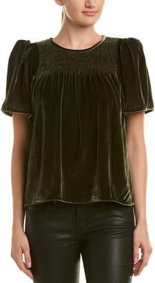 Rebecca Taylor Velvet Silk-Blend Top