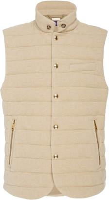 Ralph Lauren Quilted Cashmere-Blend Vest