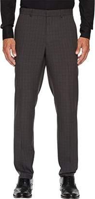 Perry Ellis Men's Slim Fit Mechanical Stretch Tonal Plaid Dress Pant