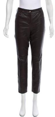 Givenchy Leather Mid-Rise Pants