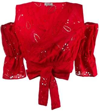 Liu Jo cold-shoulder wrap blouse