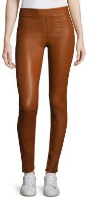 Helmut Lang Leather Leggings $920 thestylecure.com