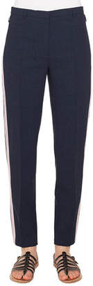 Akris Colin Side-Stripe Wool Pants