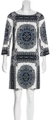 Laundry by Shelli Segal Long Sleeve Printed Dress