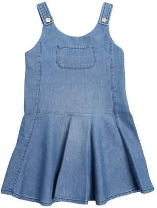 Chloé Stretch Light Denim Overall Dress