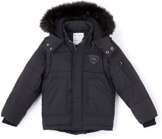 La Redoute Collections Padded Coat with Faux Fur Hood, 3-12 Years