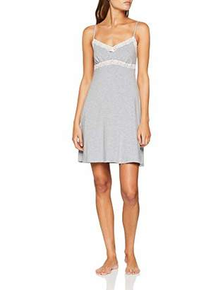 Skiny Women's Sleep & Dream Chemise Nightie, (Grey Stone Melange 9682), (Size: 40)