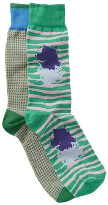 Lorenzo Uomo Italian Cotton Blend Crew Socks - Pack of 2