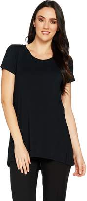 Halston H By H by Essentials Short Sleeve Scoopneck Knit Tunic