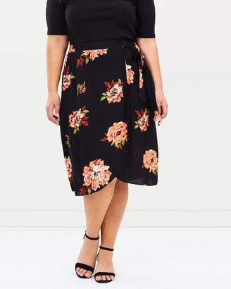 Amber Wrap Midi Skirt