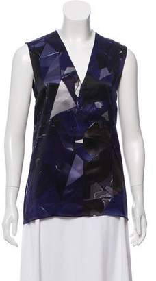 Ilaria Nistri Printed Silk Sleeveless Top