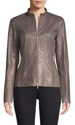 Lafayette 148 New York Sadie Leather Jacket