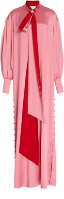 Prabal Gurung Long Sleeve Silk Maxi Caftan Dress