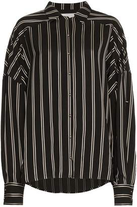 Esteban Cortazar Oversized Striped Shirt