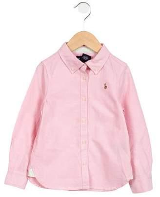 Ralph Lauren Boys' Button-Up Long Sleeve Shirt