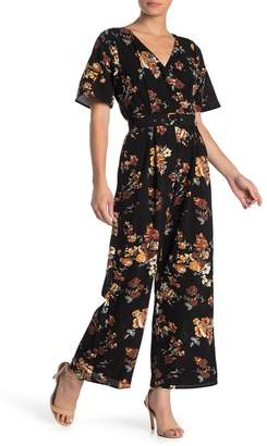 Rowa ROW A Floral Belted Kimono Jumpsuit