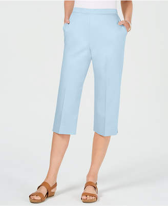 2584abb4246 Alfred Dunner Petite Turtle Cove Pull-On Capri Pants
