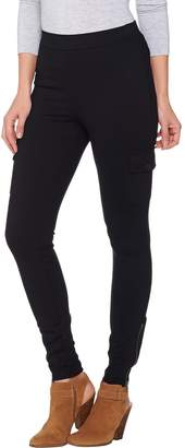 Lisa Rinna Collection Petite Cargo Leggings with Zip Detail
