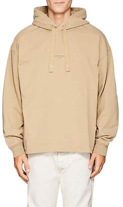 Acne Studios Men's Logo Cotton French Terry Hoodie - Beige, Tan