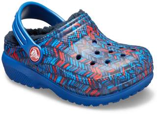Crocs Classic Lined Geometric Boys' Clogs