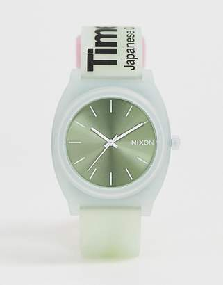 Nixon A119 Time Teller P silicone watch in mint