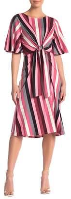 Vanity Room Stripe Knit Midi Dress
