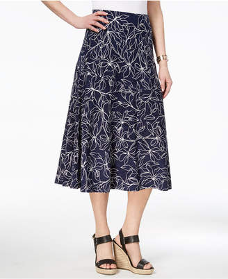 JM Collection Printed Jacquard Midi Skirt, Created for Macy's