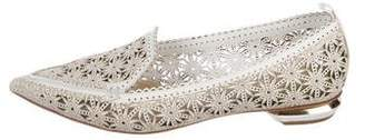 Nicholas Kirkwood Leather Laser-Cut Loafers