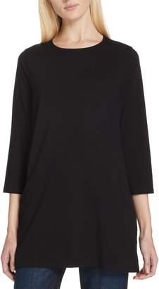 Eileen Fisher Stretch Organic Cotton Jersey Tunic