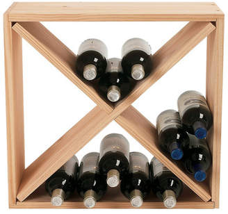 Wine Enthusiast Companies Stackable Cube 24 Bottle Tabletop Wine Rack