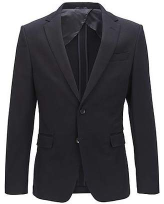 HUGO BOSS Slim-fit suit jacket in stretch cotton with AMF stitching