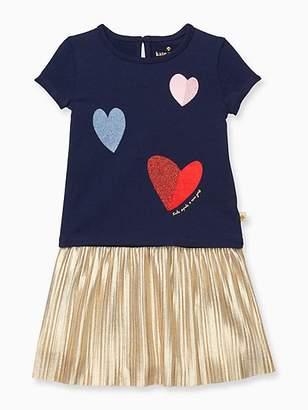 Kate Spade Infant tossed hearts skirt set
