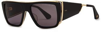 Dita Souliner Black D-frame Sunglasses
