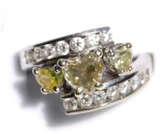 14K White Gold Heart Attack Diamond Ring