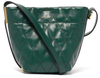 Givenchy Gv Quilted Leather Mini Bucket Bag - Womens - Green