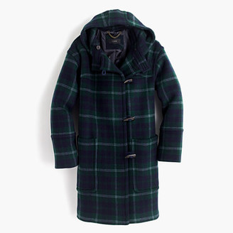 Hooded toggle coat in plaid $398 thestylecure.com