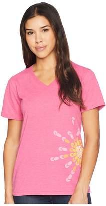 Life is Good Flip-Flop Sun Cool Vee Tee Women's T Shirt